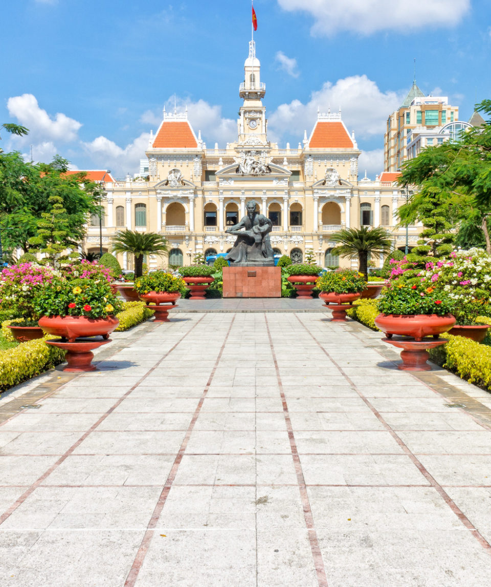 The City Hall of Ho Chi Minh City, Vietnam, south-eastern Asia.